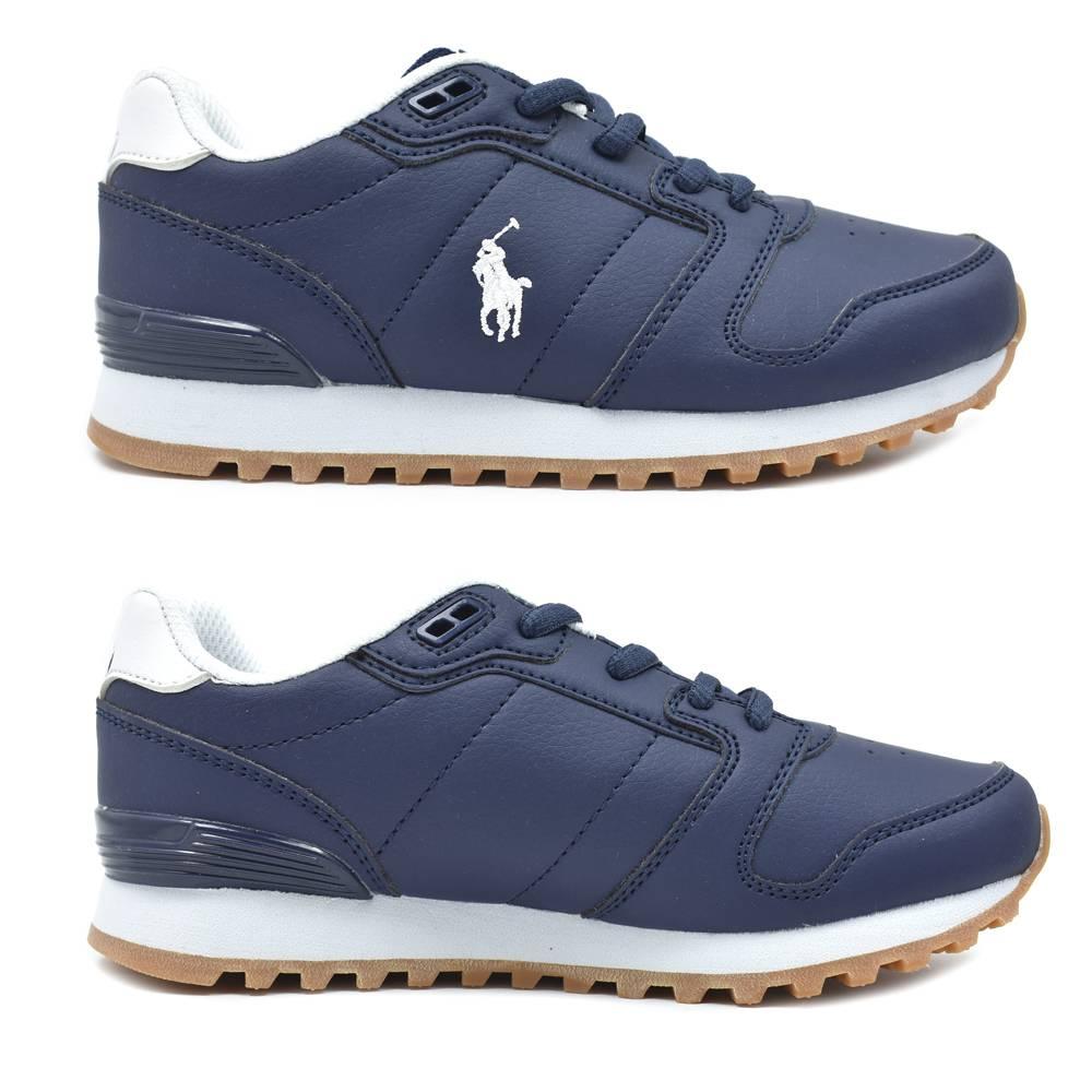 Кроссовки POLO для мальчика демисезонные синий на шнурках RF101681/NAVY_TUMBLED