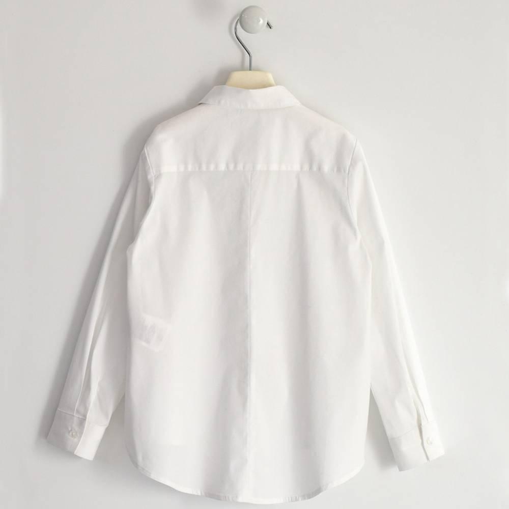 Рубашка для девочки iDO подросток хлопок поплин белый 4.1912.00/0113