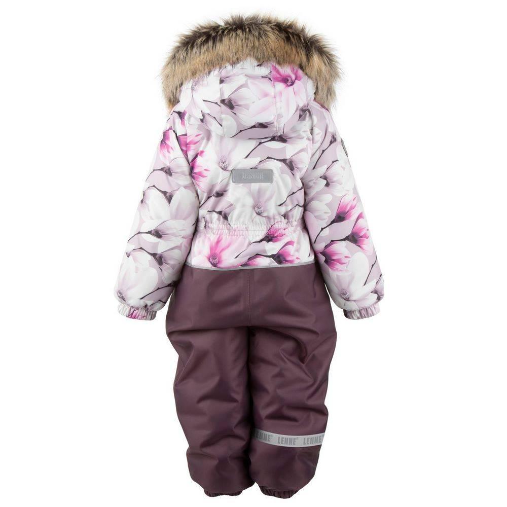 Комбинезон для девочки LENNE зимний цельный капюшон и опушка съемные PAMELA 20322А