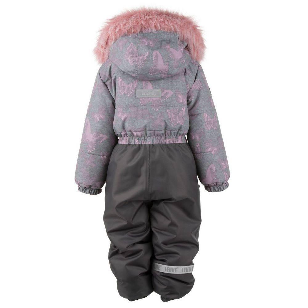 Комбинезон для девочки LENNE зимний цельный капюшон и опушка съемные COLD 20324/3700