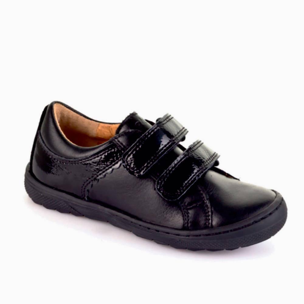 Туфли для девочки Froddo натуральная кожа на липучке G3130090/Black