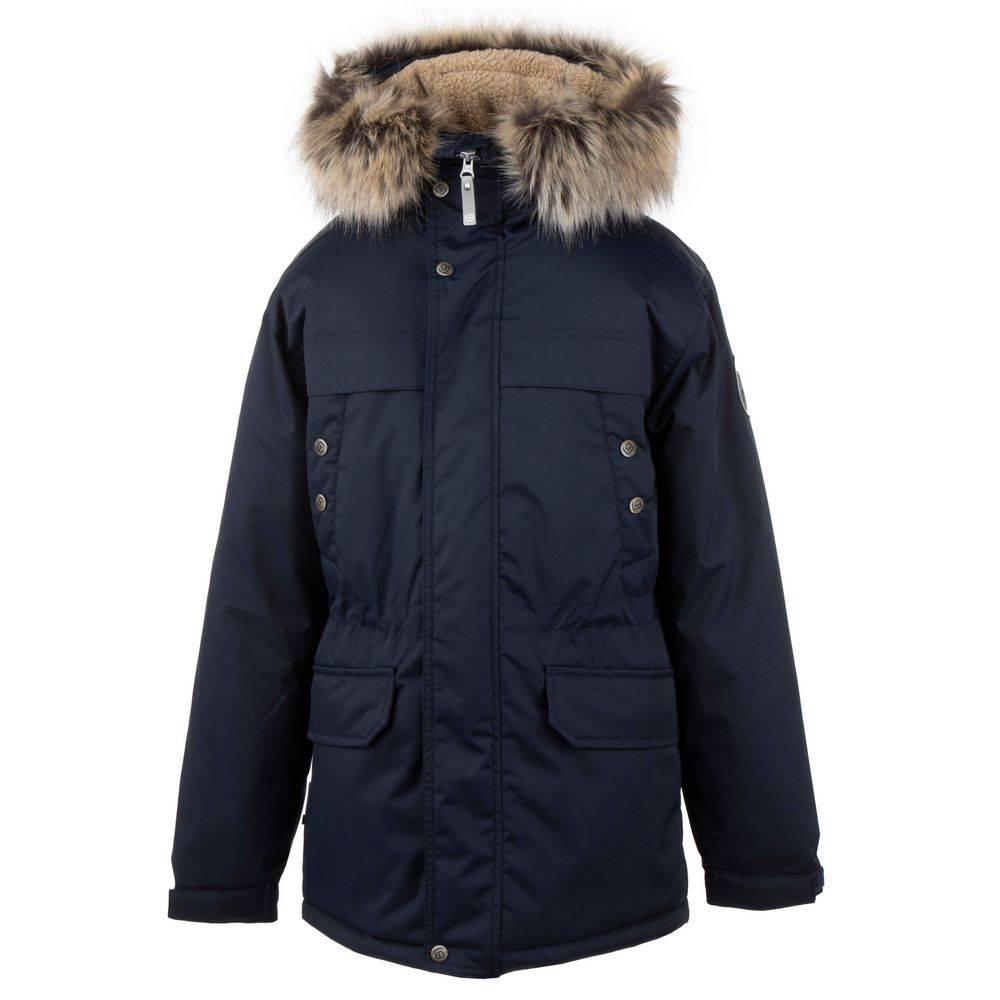 Парка для мальчика LENNE подростка зимняя с капюшоном с опушкой ткань Aсtive PLUS WAFI 20369A