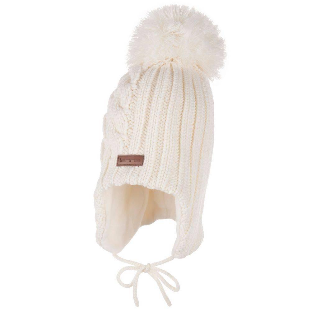 Шапка для девочки LENNE вязанная зимняя на трикотажной подкладке BADEN 20379