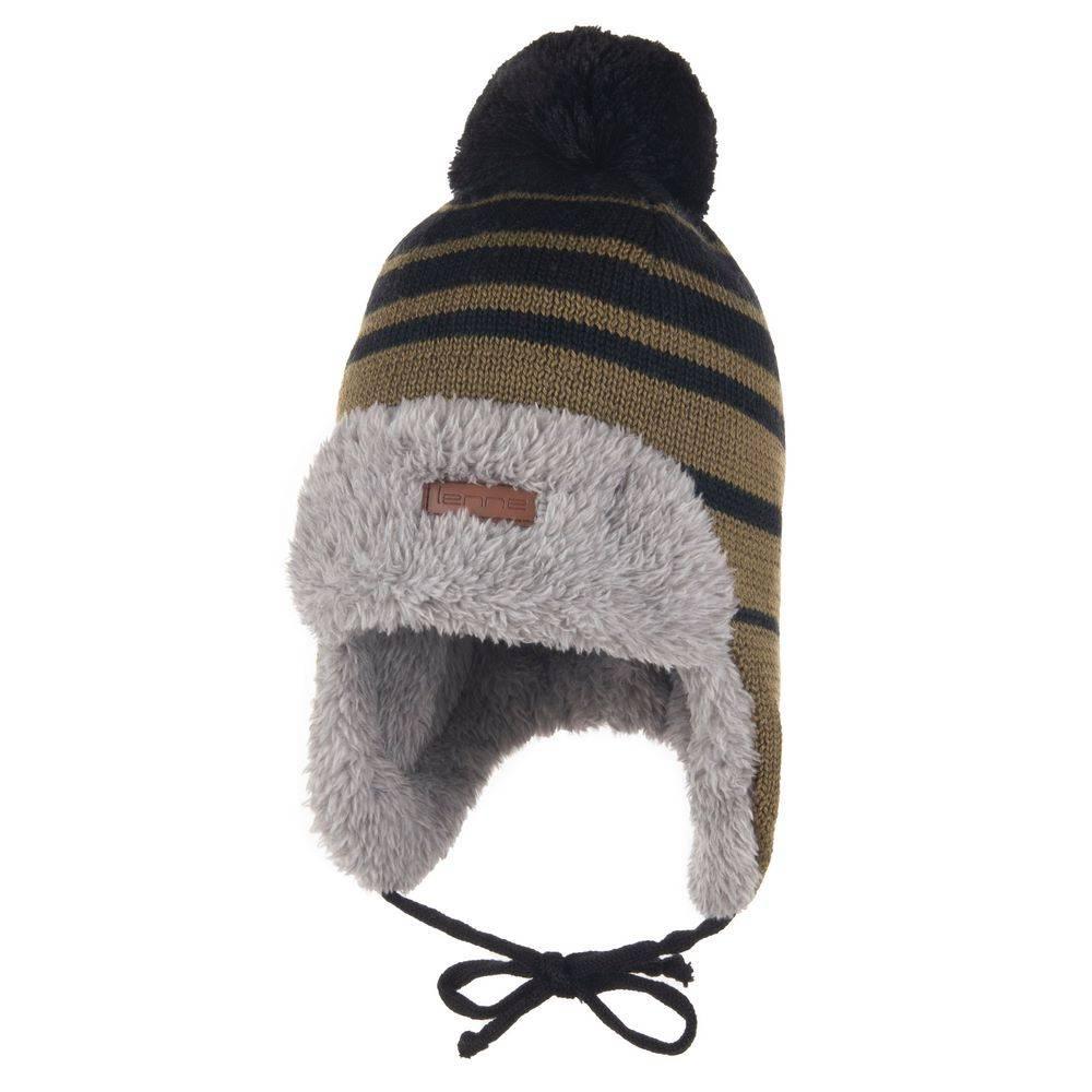 Шапка для мальчика LENNE зимняя на завязках подкладка мех BERNE 20380A