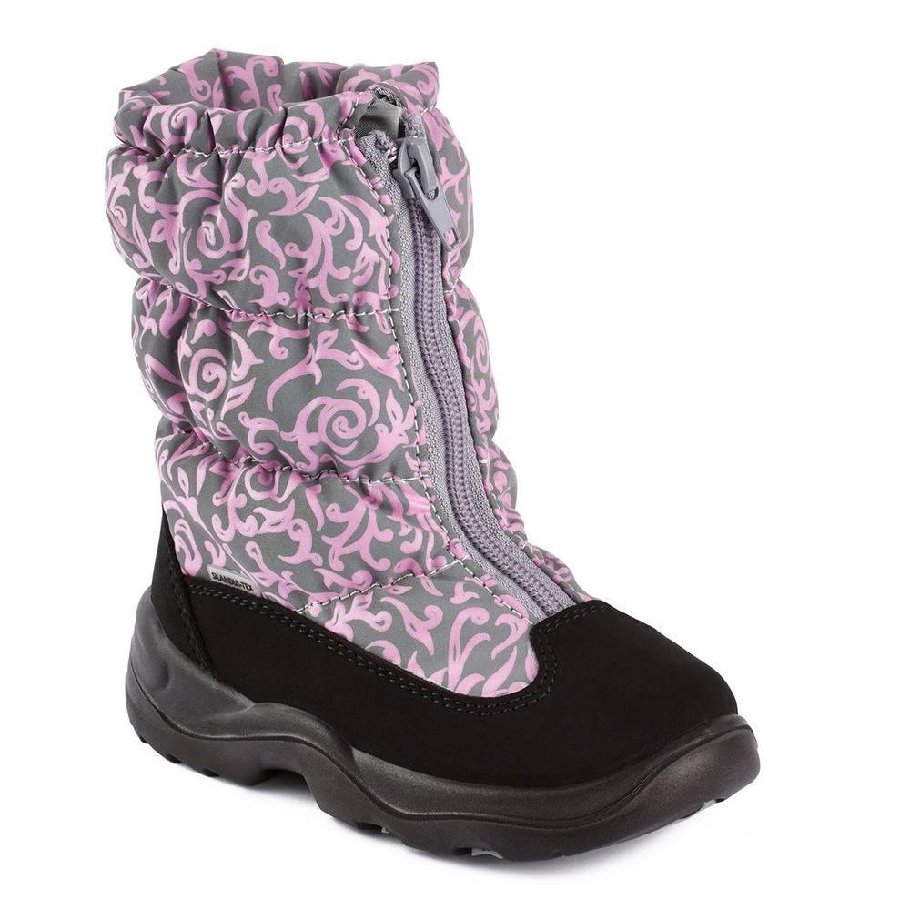 Ботинки для девочки Skandia зимние 8462R/TuonoSaiRef_BlPink