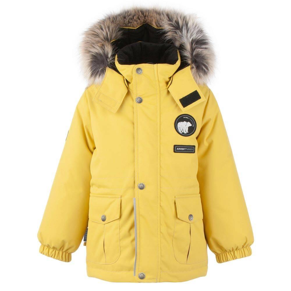 Парка для мальчика LENNE зимняя с капюшоном с опушкой ткань Aсtive PLUS MOSS 20339