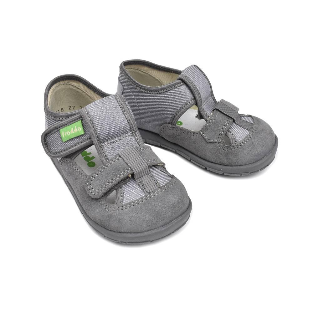 Тапочки для мальчика Froddo текстиль липучки G1700221-10/Grey