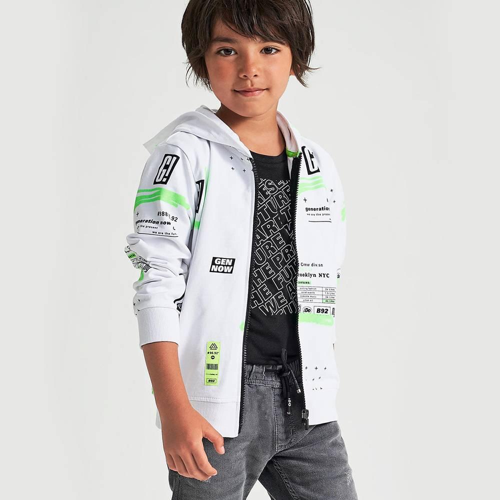 Футболка для мальчика iDO подросток трикотаж принт 4.2392.00/0658