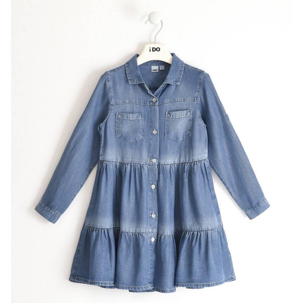 Платье для девочки iDO джинсовое длинный рукав4.2537.00/7400
