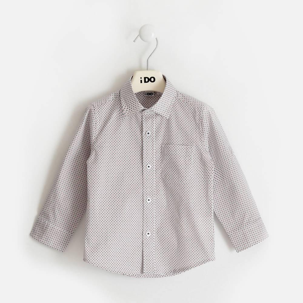 Рубашка для мальчика iDO поплин с принтом 4.2204.00/6PT7