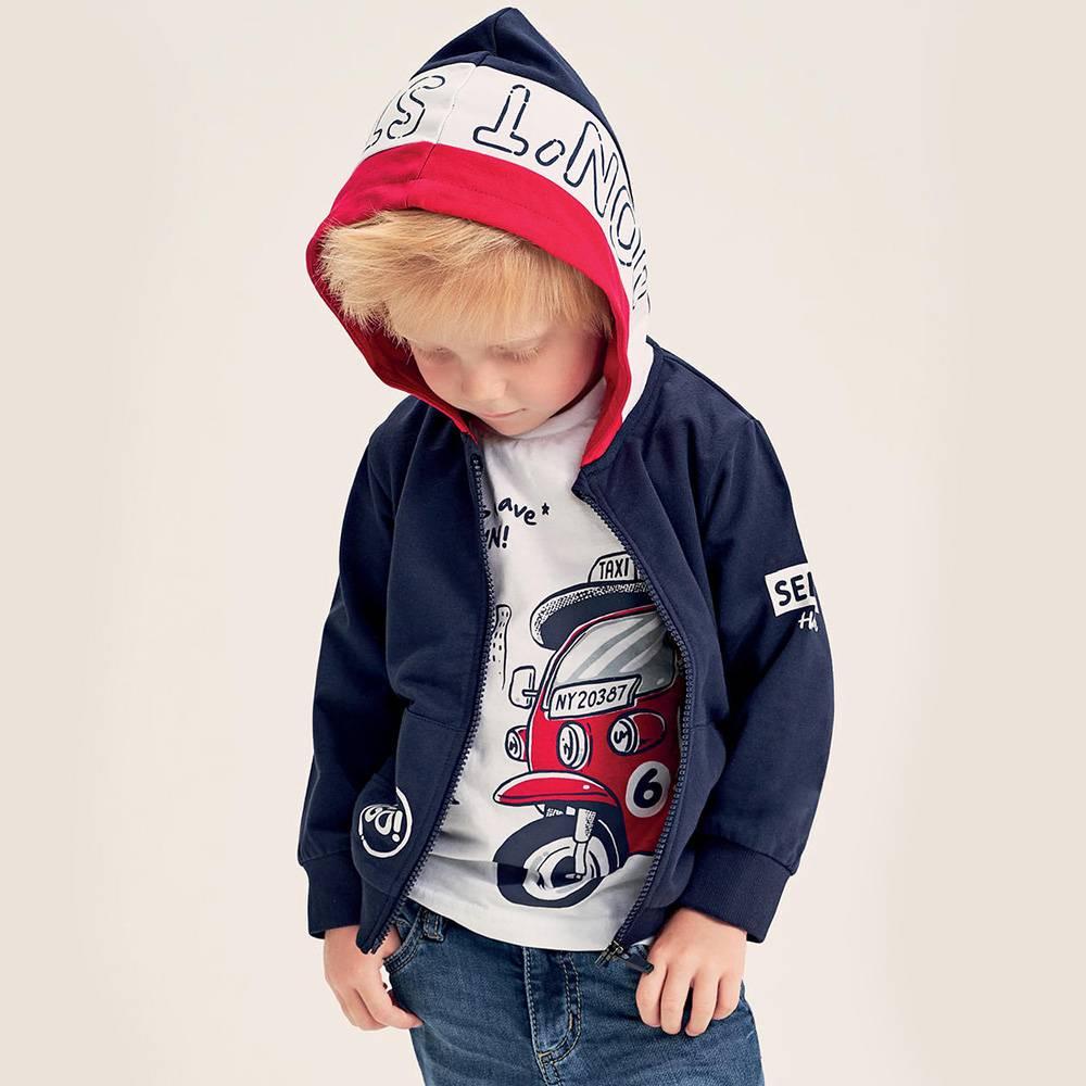 Толстовка для мальчика iDO трикотаж капюшон карман кенгуру 4.2210.00/2256