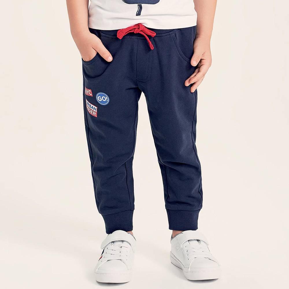 Штаны спортивные для мальчика iDO хлопок трикотаж принт 4.2242.00/3854