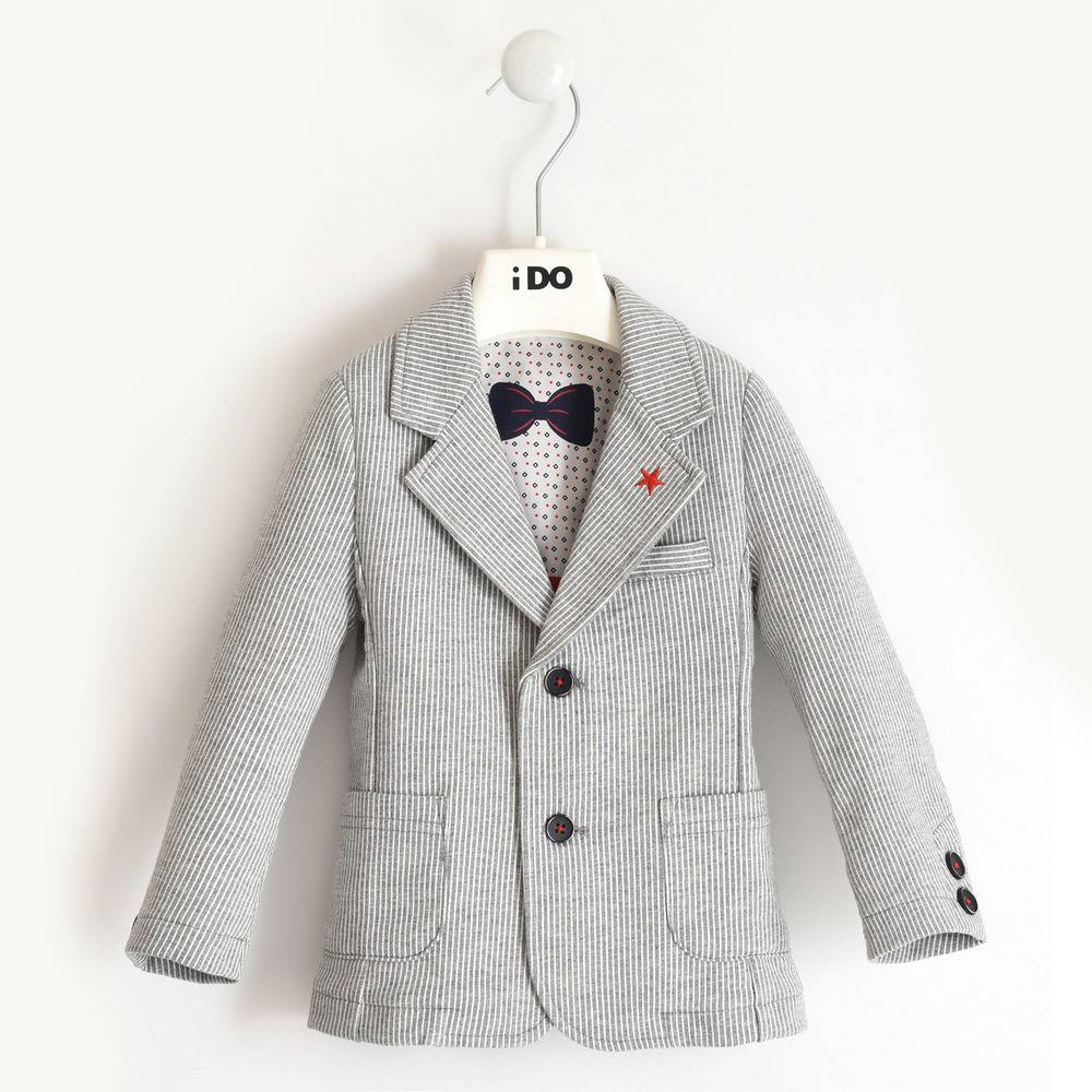 Пиджак для мальчика iDO элегантный полосатый хлопок 4.2254.00/6PS4