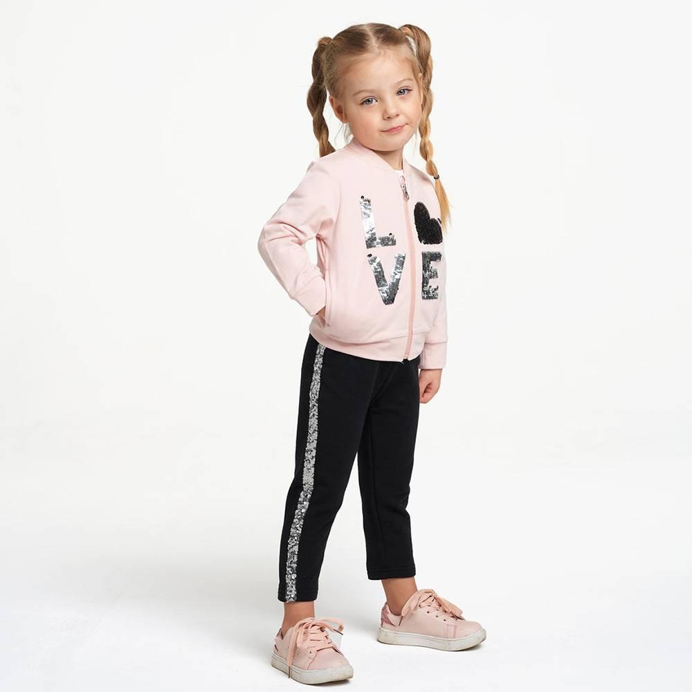 Костюм для девочки iDO спортивный трикотажный толстовка штаны 4.2306.00/2617