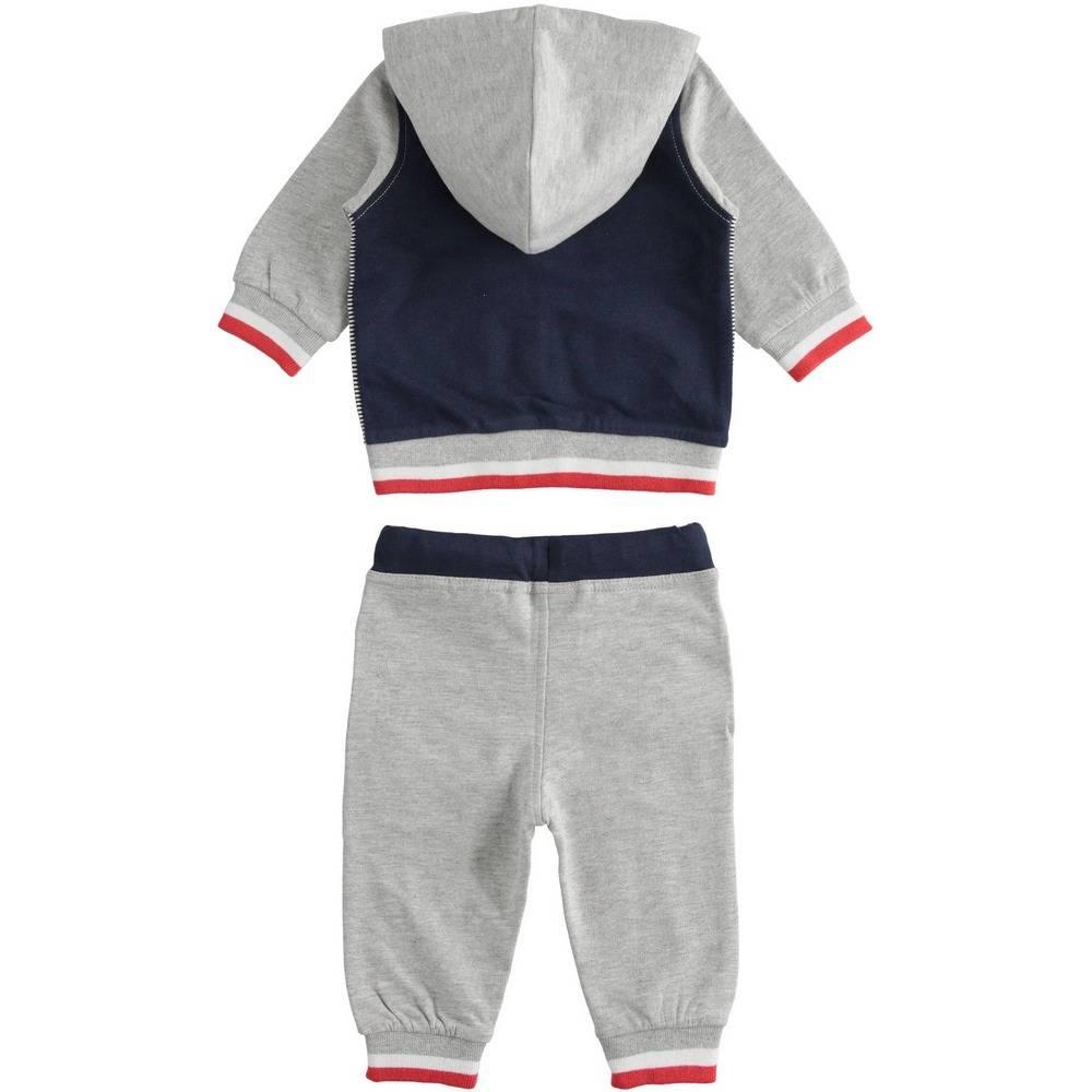 Комплект для мальчика iDO спортивный трикотажный толстовка з капюшоном штаны 4.2056.00/8992