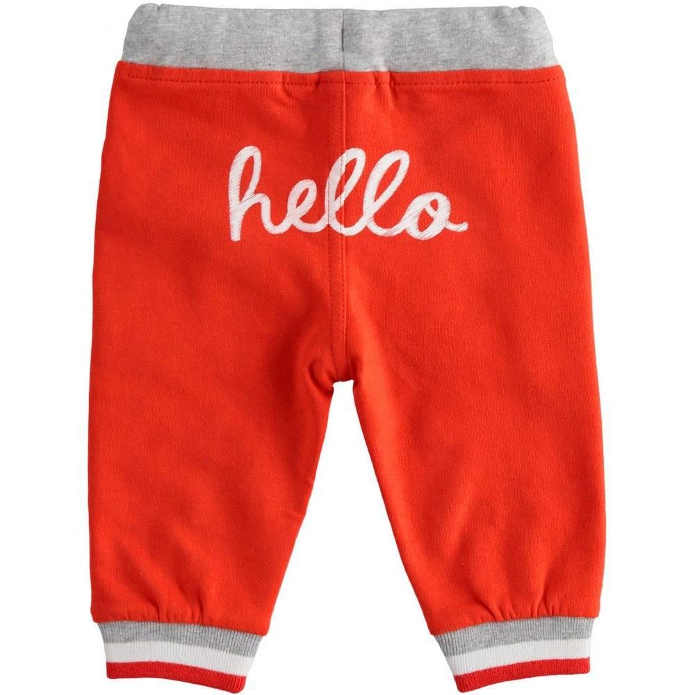 Штаны спортивные для мальчика iDO хлопок трикотаж принт 4.2084.00/2235
