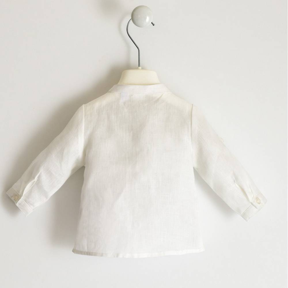 Рубашка для мальчика iDO классика белая лен 4.2108.00/0113