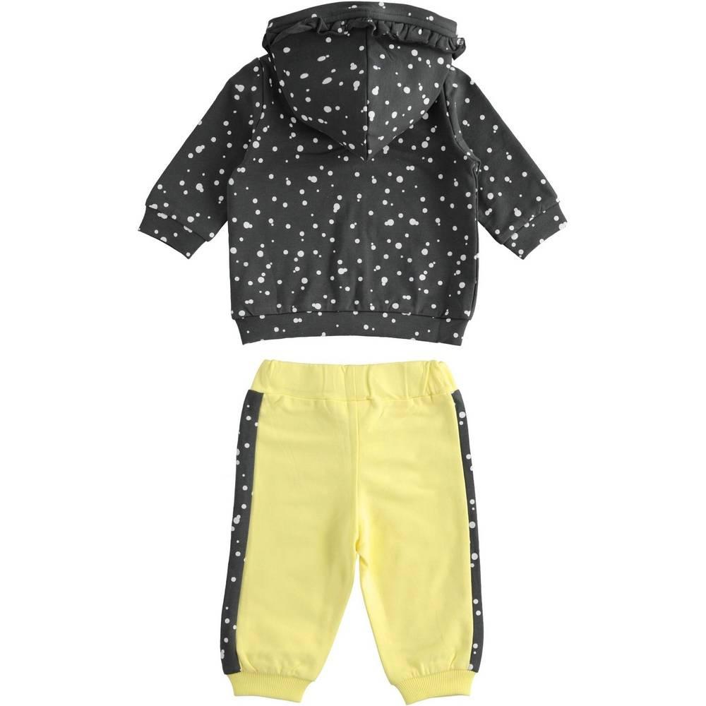 Комплект для девочки iDO спортивный трикотажный толстовка с капюшоном штаны 4.2114.00/1415