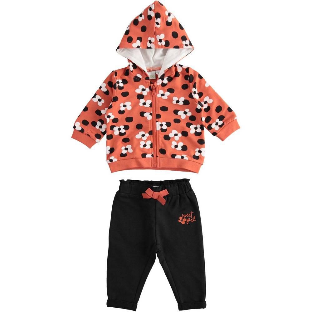 Комплект для девочки iDO спортивный трикотажный толстовка с капюшоном штаны 4.2116.00/6PZ4