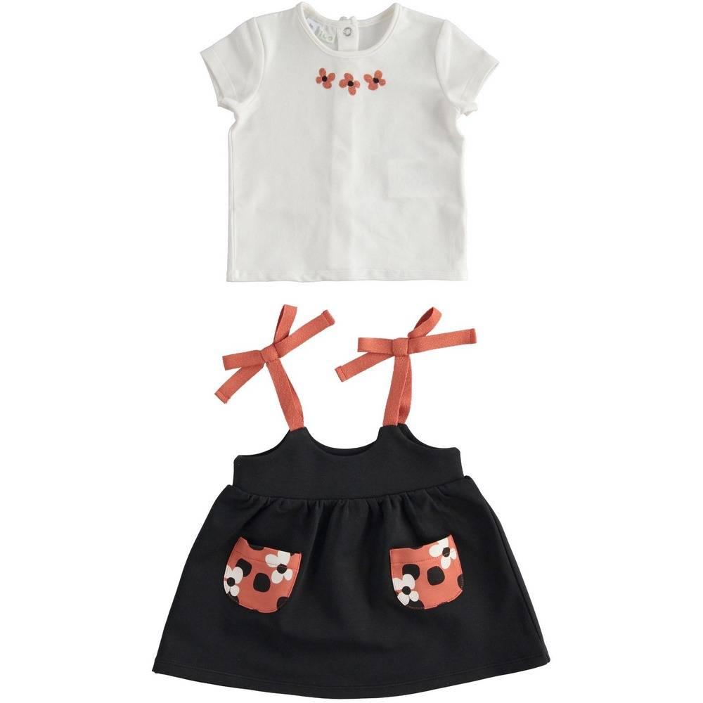 Костюм для девочки iDO сарафан футболка трикотаж 4.2660.00/0112