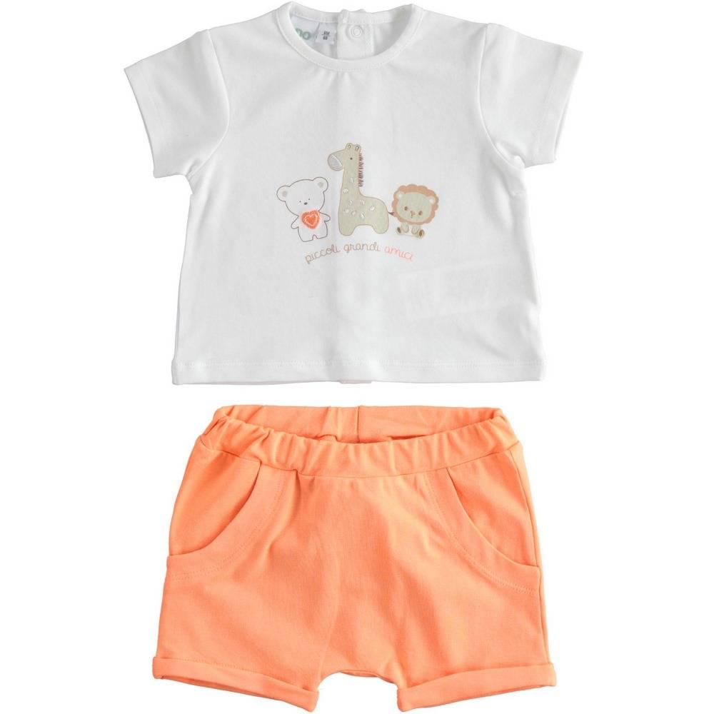 Комплект для мальчика iDO летний хлопок трикотаж детский принт 4.2179.00/0113