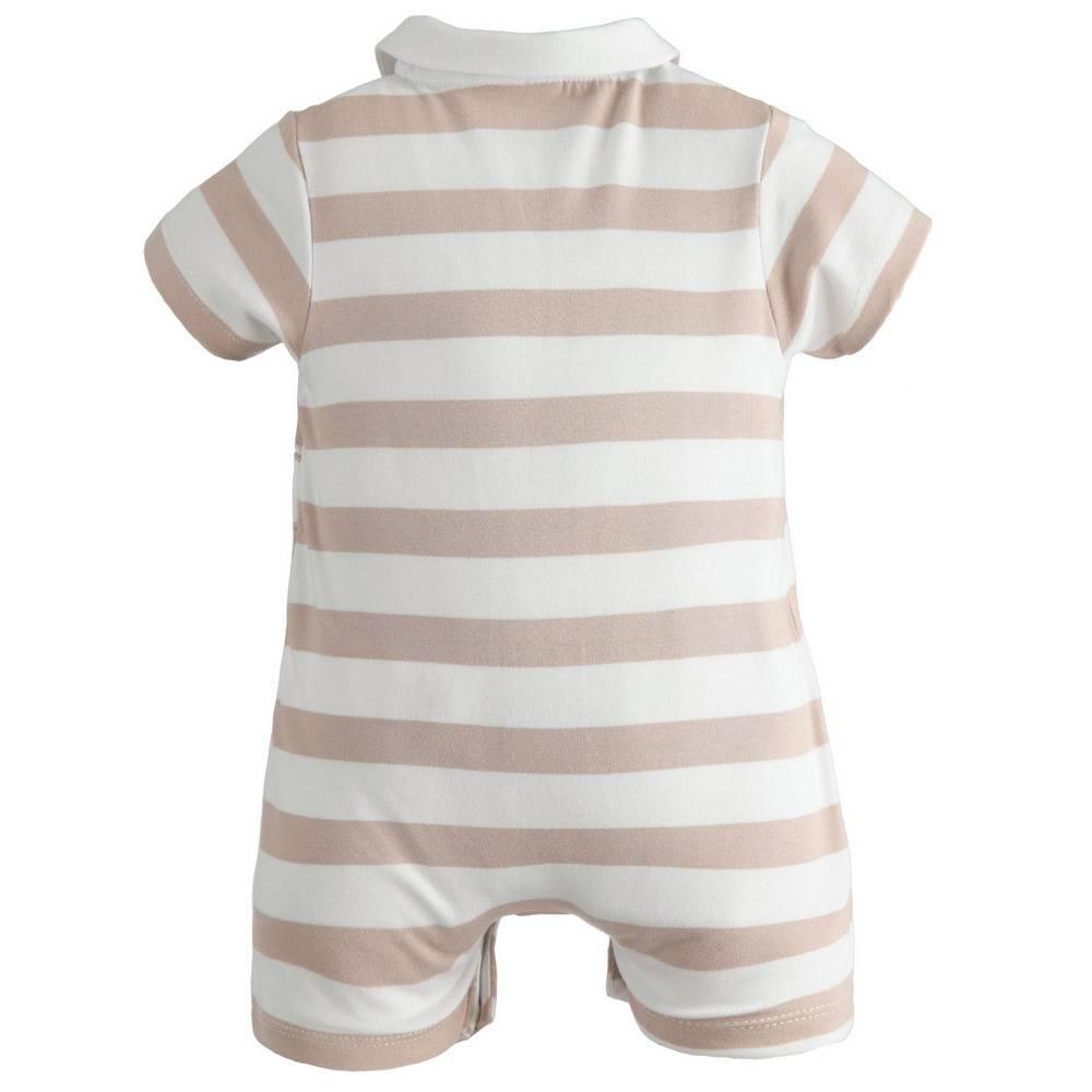 Песочник для мальчика iDO трикотаж полосатый аппликация 4.2189.00/0434