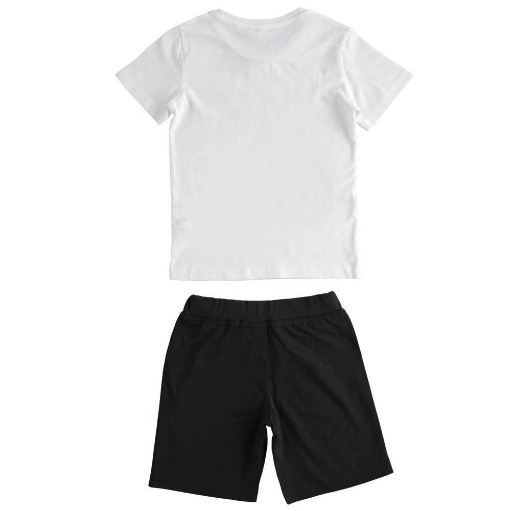 Комплект для мальчика iDO подростка спортивный летний футболка шорты принт 4.2230.00/0113