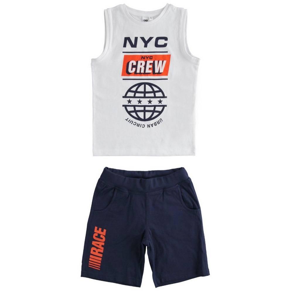 Комплект для мальчика iDO подростка спортивный летний майка шорты принт 4.2233.00/0113