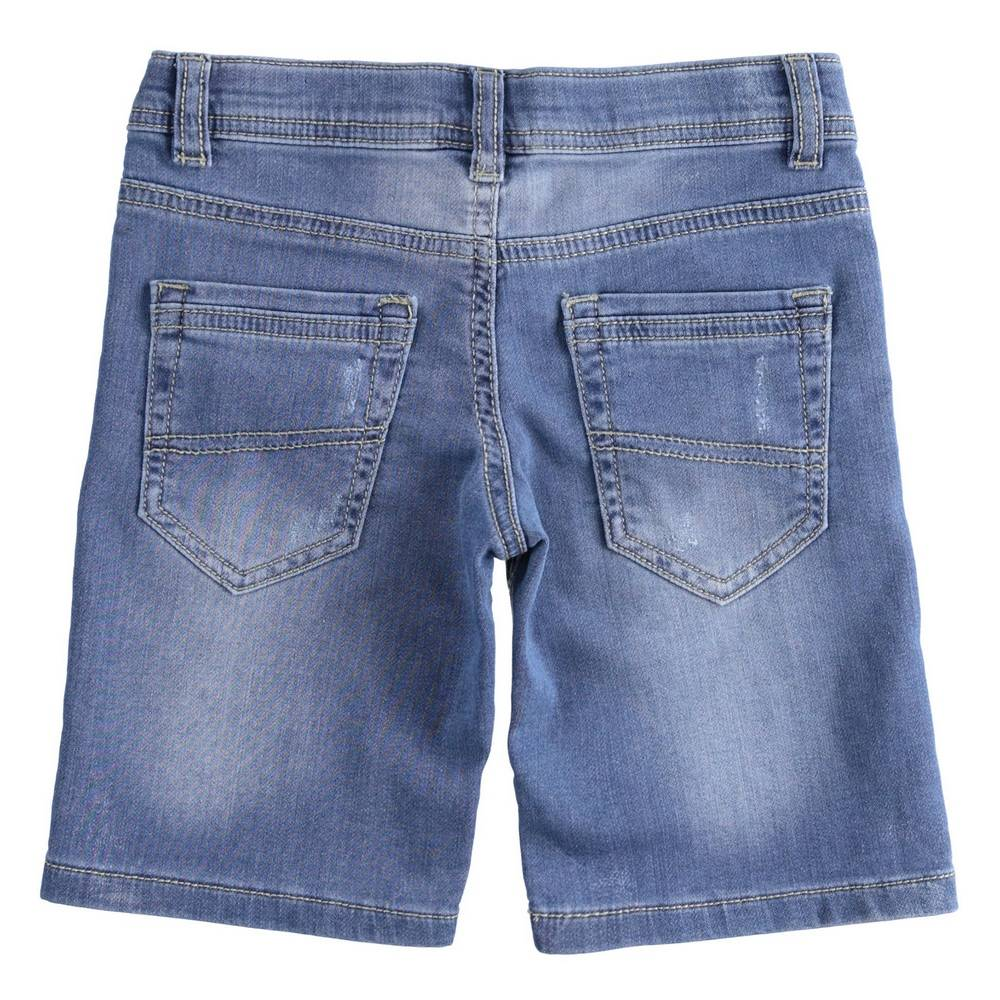 Шорты для мальчика iDO хлопок джинсовые потертости 4.2816.00/7400