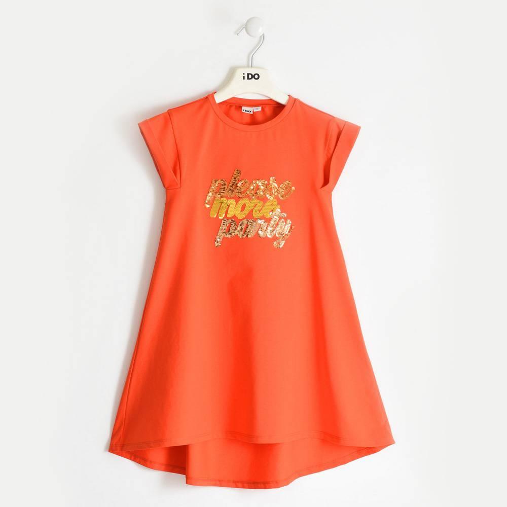 Платье для девочки iDO хлопок трикотаж принт 4.2881.00/2214