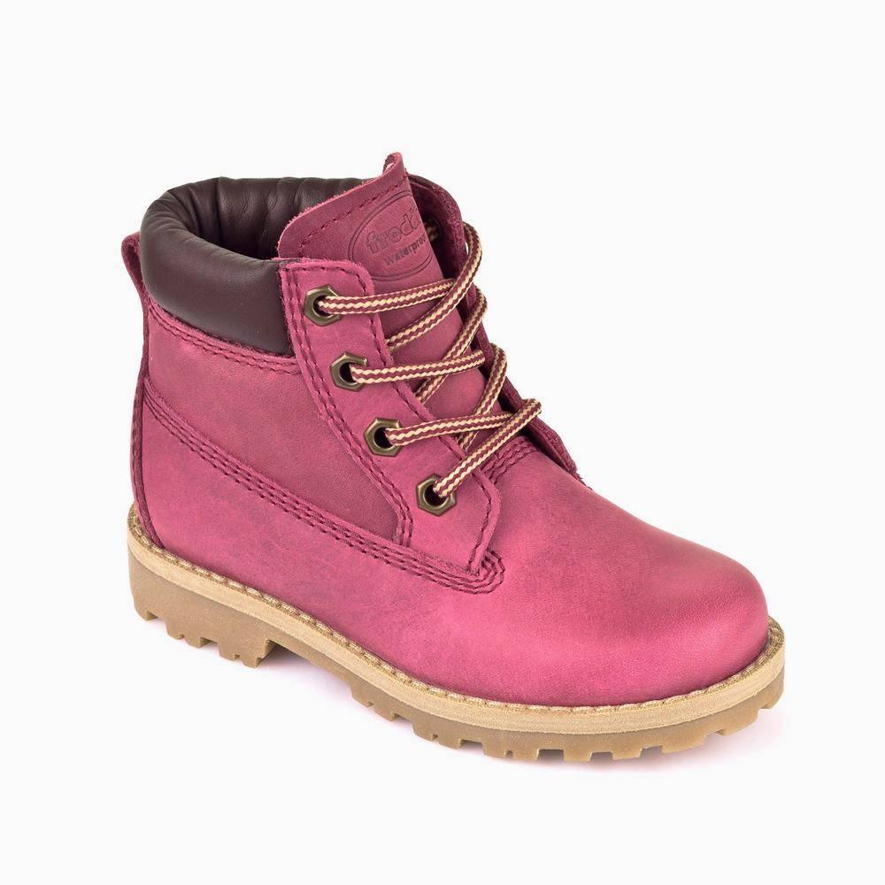 Ботинки для девочки Froddo демисезонные нубук шнурки G3110072-3/bordeaux