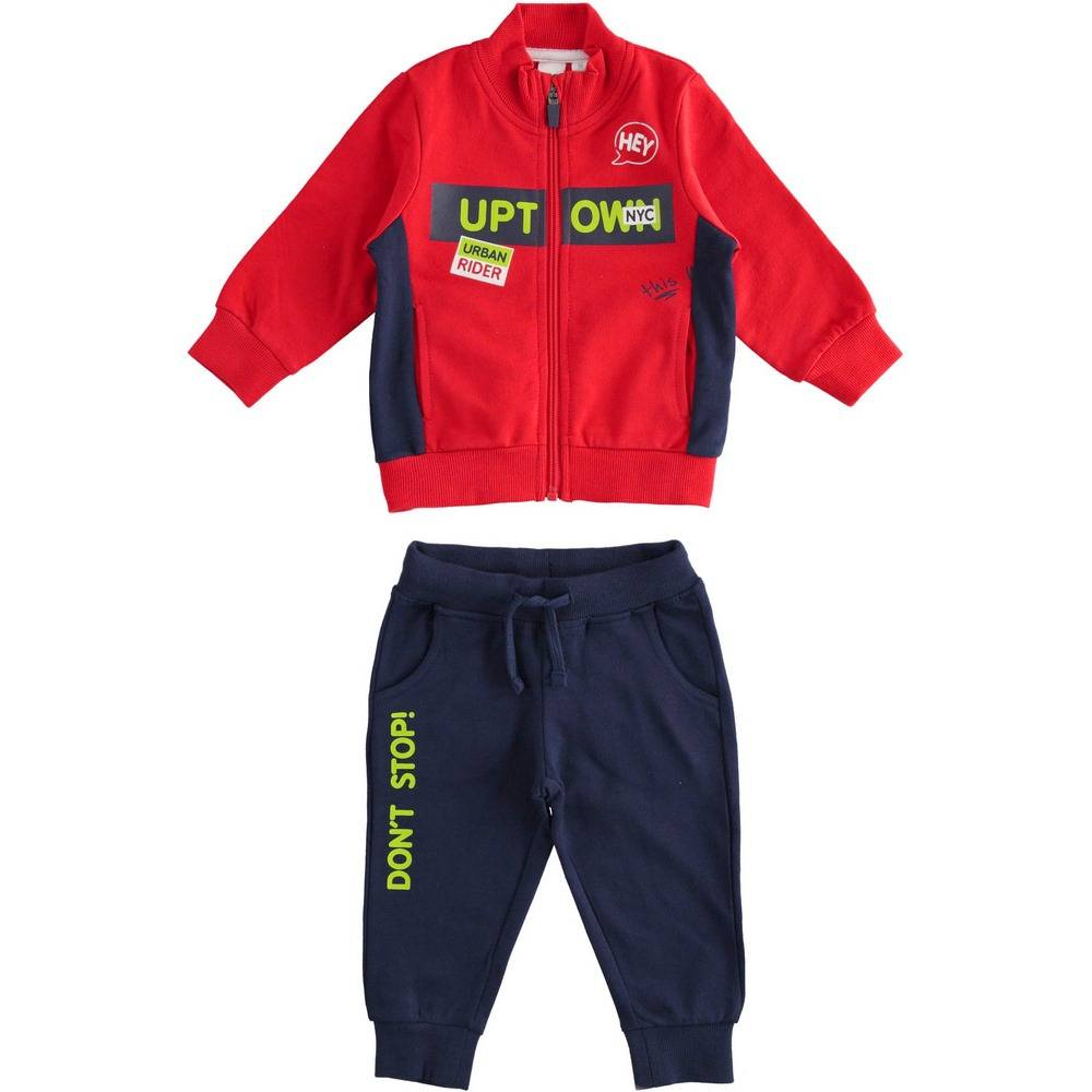 Комплект для мальчика iDO спортивный хлопок трикотажный принт 4.2268.00/2256
