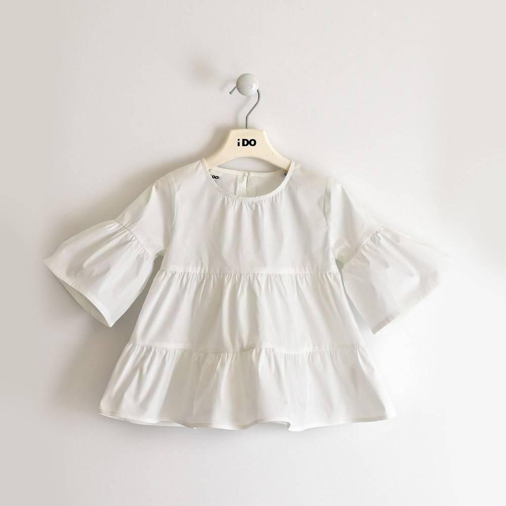 Блуза для девочки iDO подростка поплин воланы 4.2890.00/0113