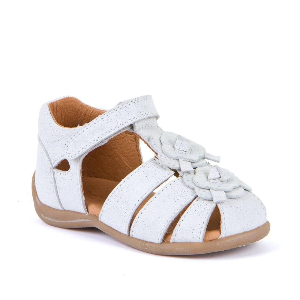 Босоножки для девочки Froddo натуральная кожа на липучке G2150144/White