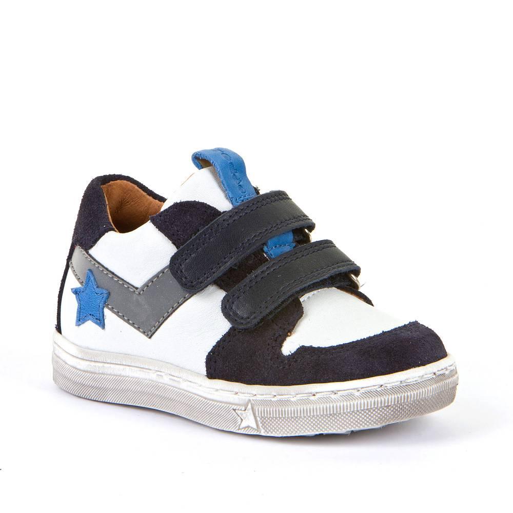 Кроссовки для мальчика Froddo демисезонные на липучке G2130230/White-blue