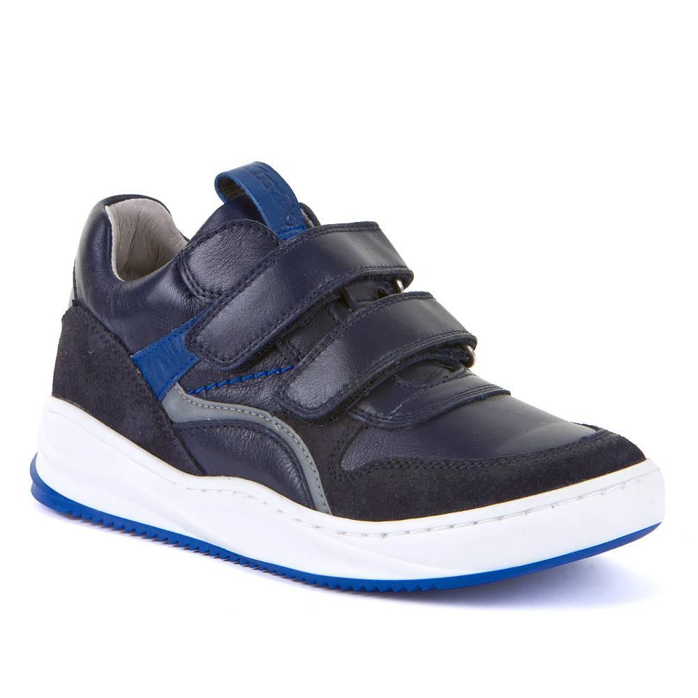 Кроссовки для мальчика Froddo демисезонные натуральна кожа липучки светоотражатели G3130165-1/Blue