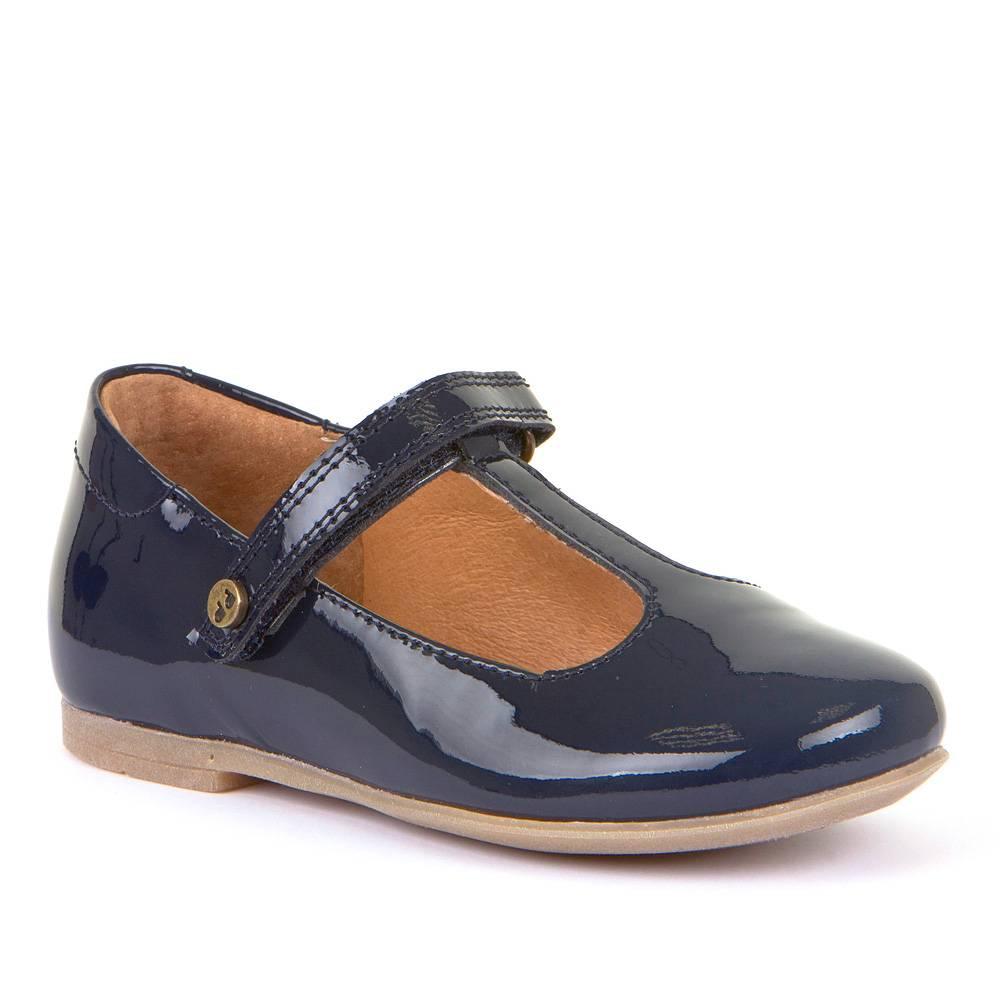 Туфли для девочки Froddo натуральная лакированая кожа на перепонке кожаная стелька G3140123/Bluepatent