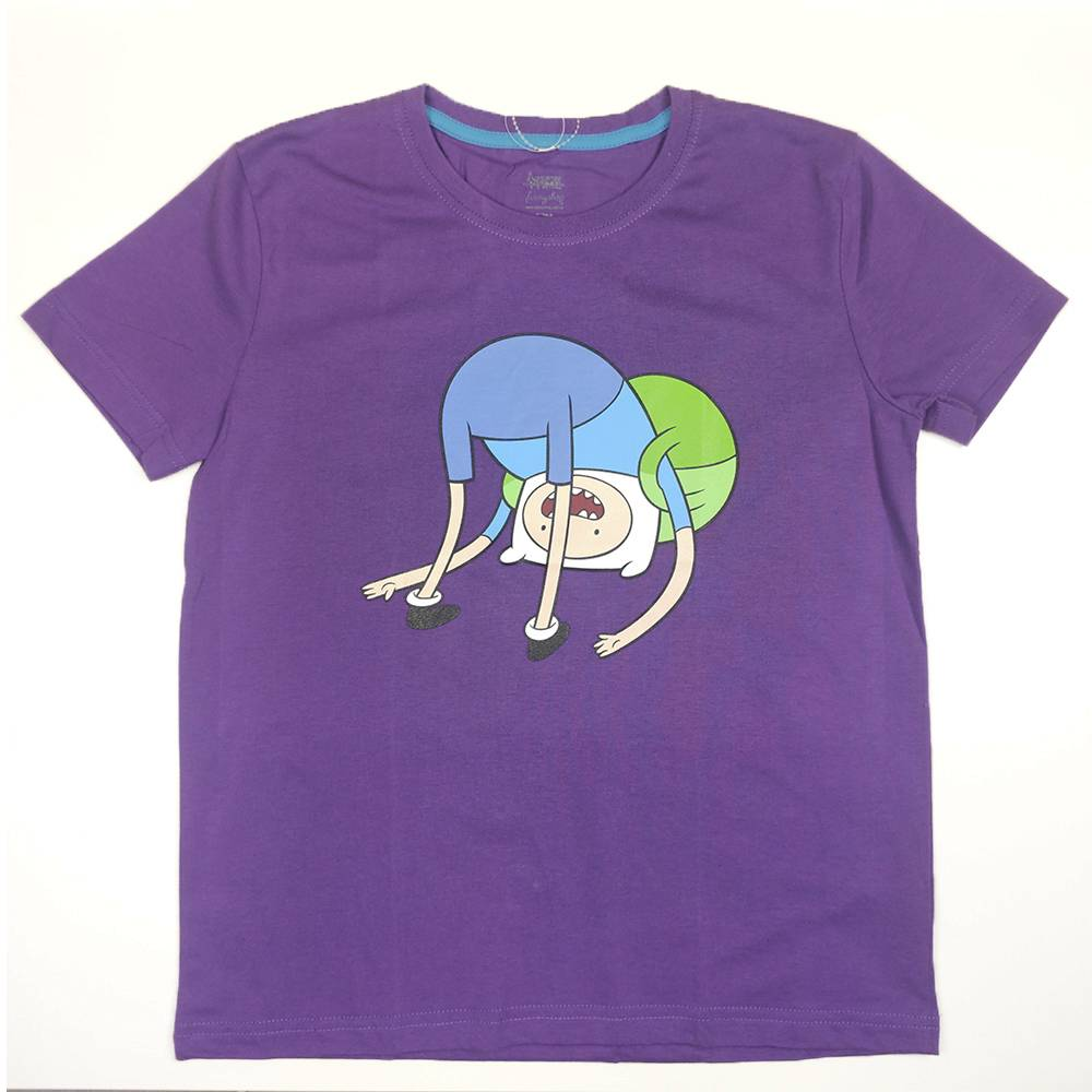 Футболка для мальчика Cartoon network Adventure Time хлопок сиреневый трикотаж принт