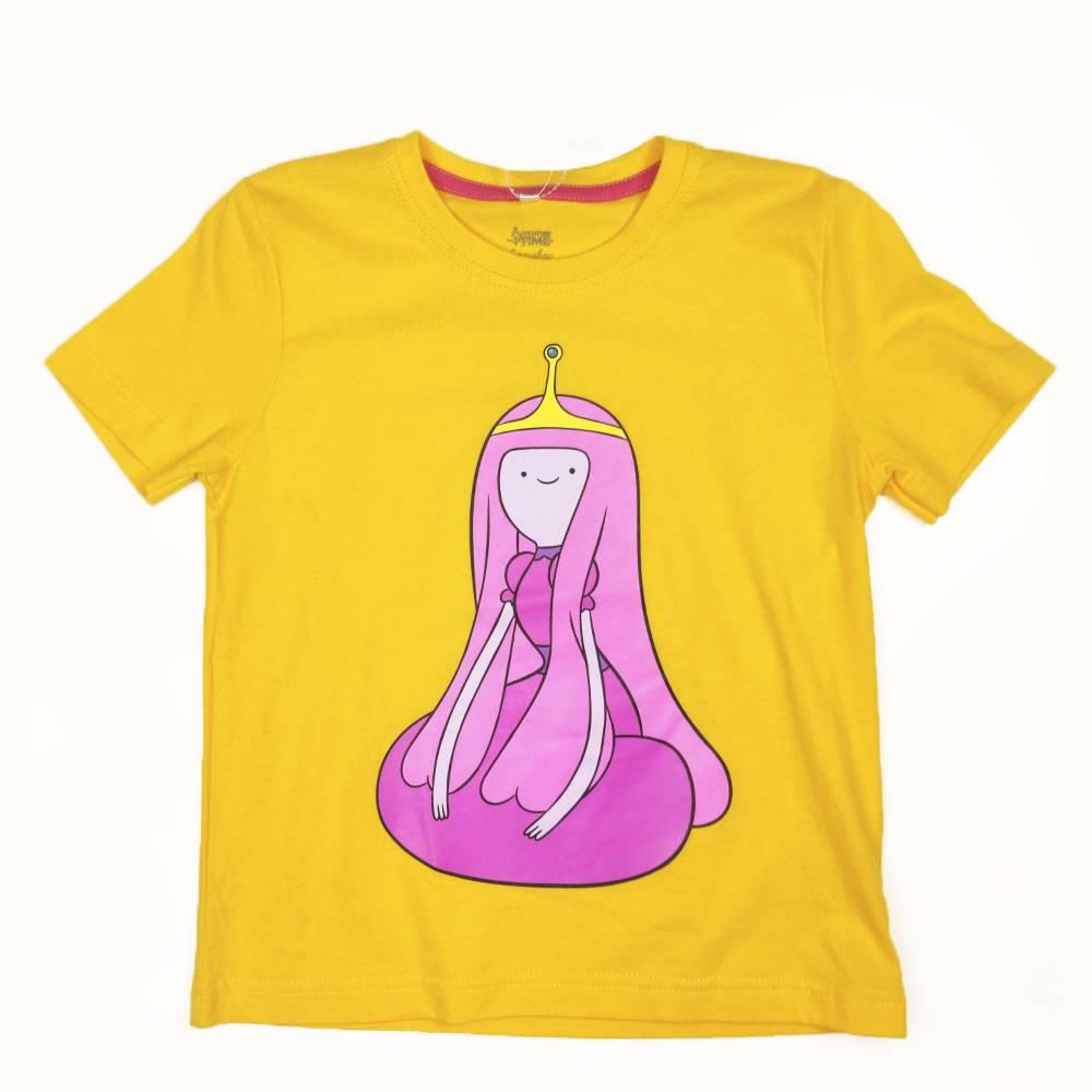 Футболка для девочки Cartoon network Adventure Time хлопок желтый трикотаж принт