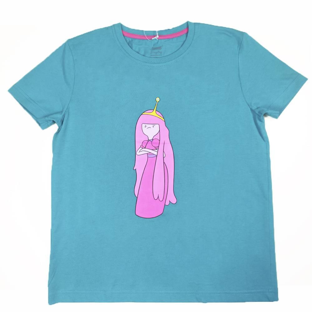 Футболка для девочки Cartoon network Adventure Time хлопок голубой трикотаж принт