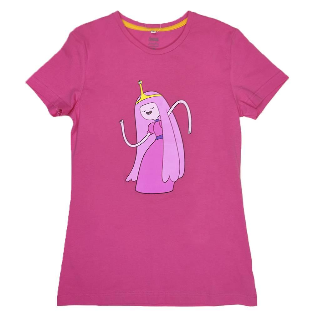 Футболка для девочки Cartoon network Adventure Time хлопок белый розовый трикотаж принт