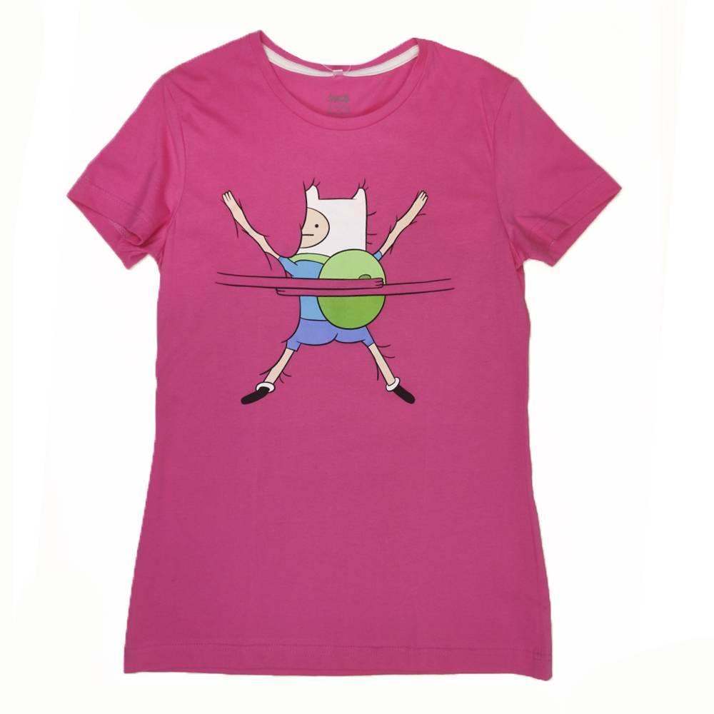 Футболка для девочки Cartoon network Adventure Time хлопок розовый трикотаж принт
