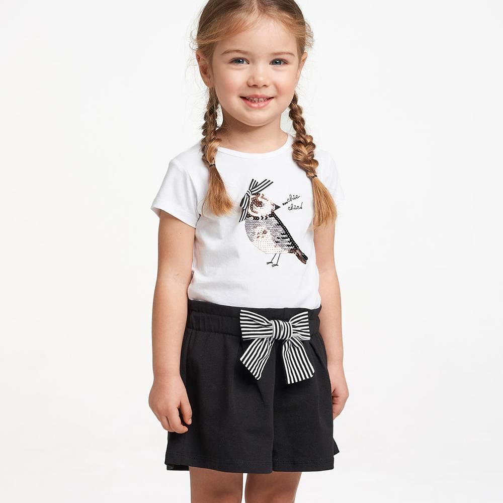Комплект для девочки iDO трикотаж бавовна футболка шорты 4.2770.00/0113