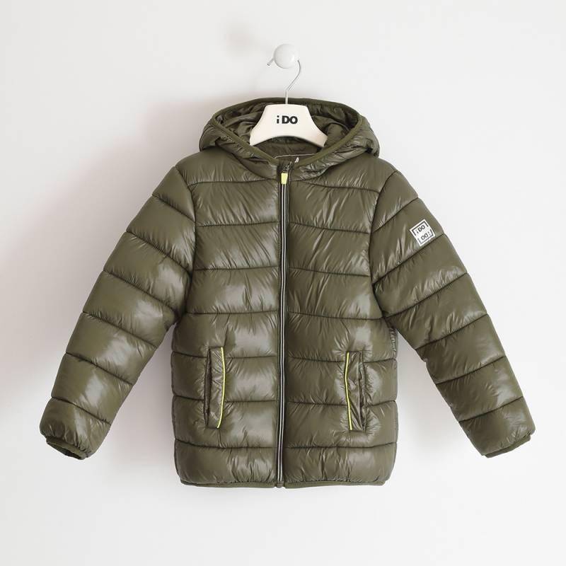 Куртка для мальчика iDO подросток демисезонная утепленная с капюшоном 4.3391