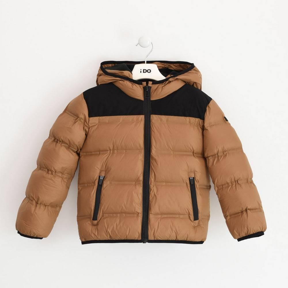 Куртка для мальчика iDO подросток демисезонная утепленная стеганая с капюшоном 4.3792.00/0818