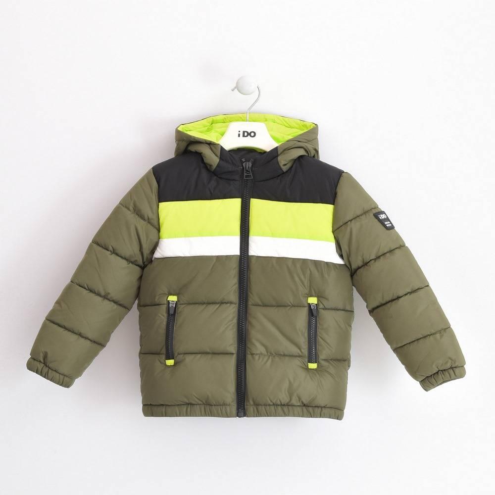 куртка для мальчика iDO подросток демисезонная утепленная стеганая с капюшоном 4.3793.00/5557