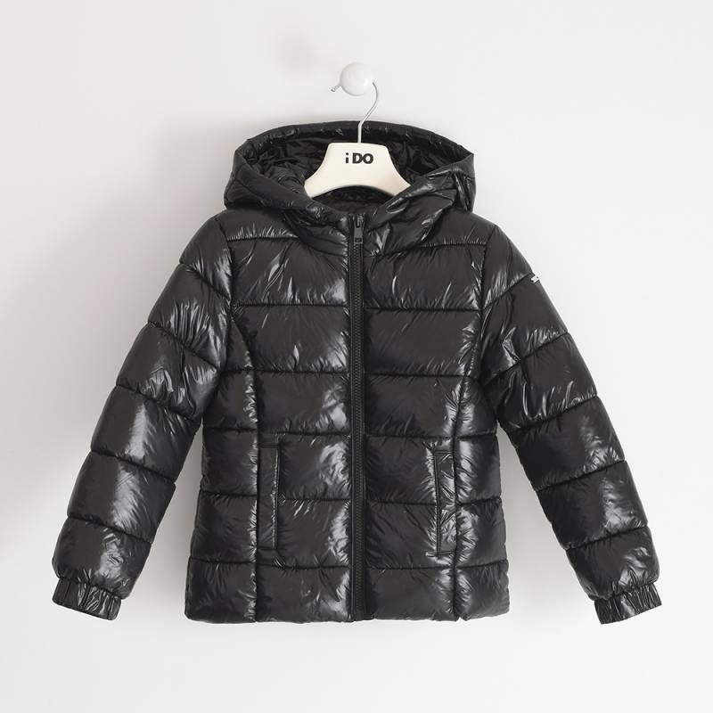 Куртка для девочки iDO подросток демисезонная утепленная с капюшоном 4.3324.00/0658