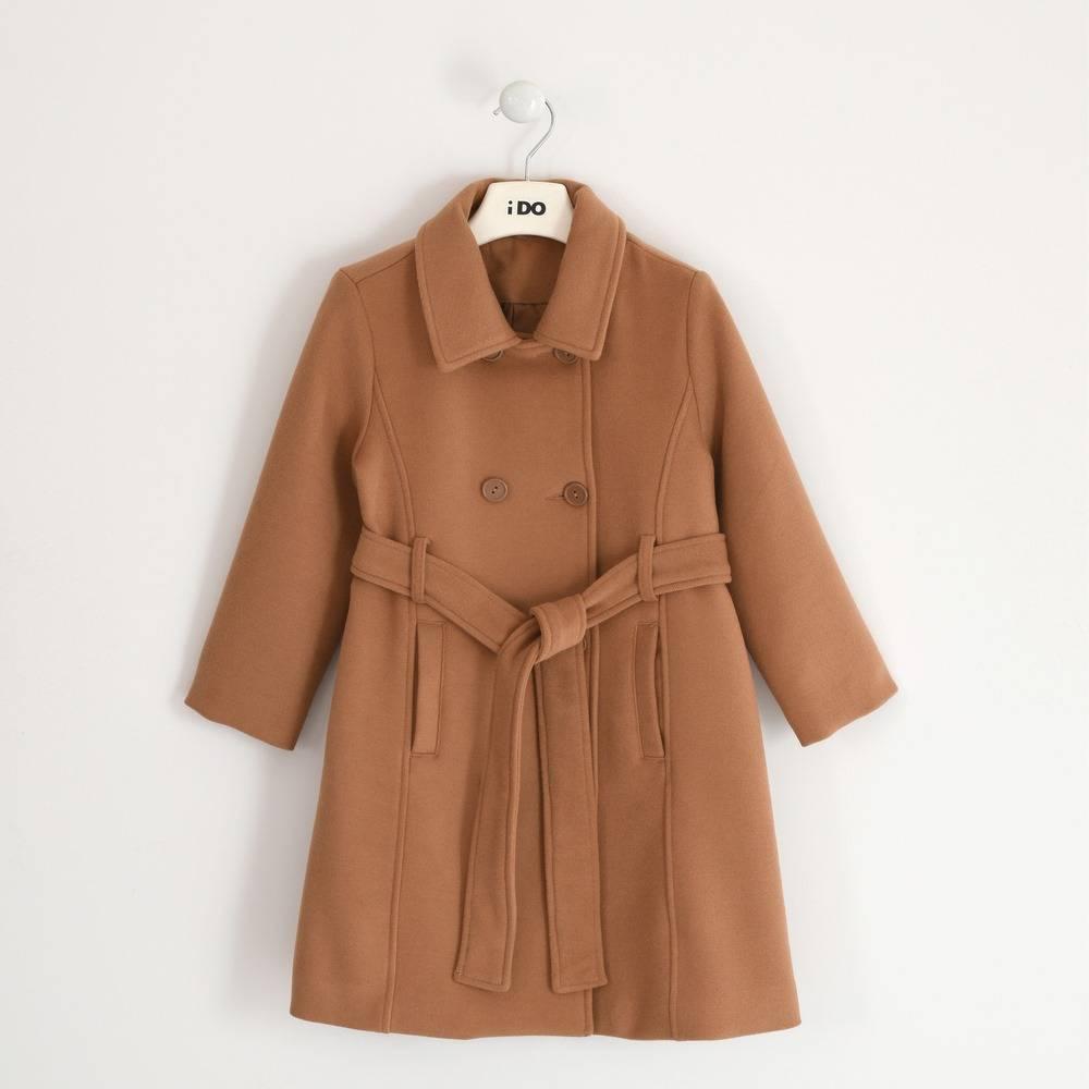 Пальто для девочки iDO текстиль демисезонное под пояс 4.3982