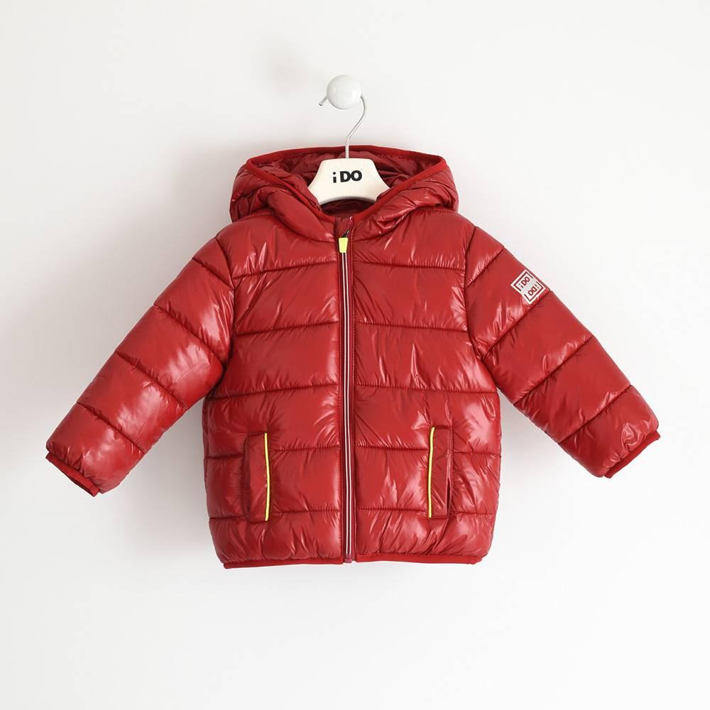 Куртка для мальчика iDO демисезонная утепленная с капюшоном 4.3341