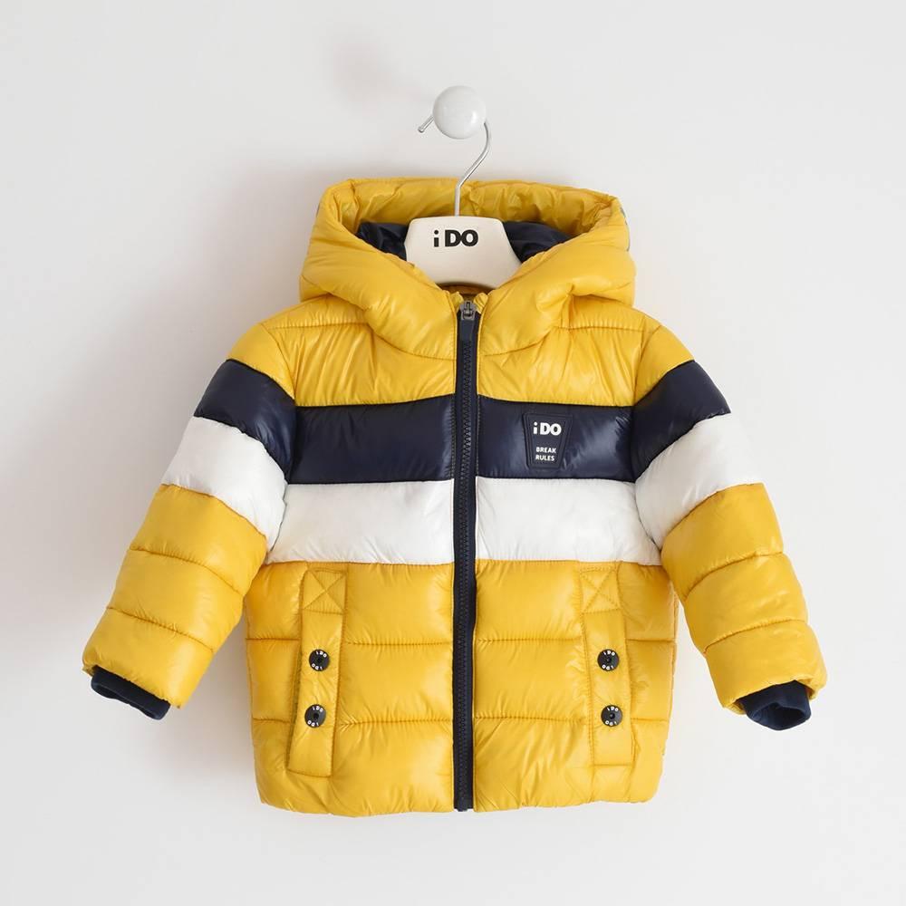 Куртка для мальчика iDO демисезонная утепленная стеганая с капюшоном 4.3492.00/1615